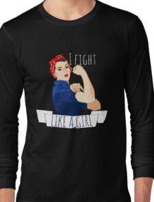 i fight like a girl  Long Sleeve T-Shirt