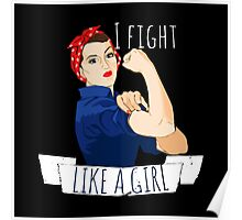 i fight like a girl  Poster