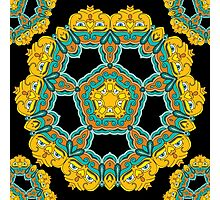 Psychedelic jungle kaleidoscope ornament 3 Photographic Print