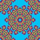 Psychedelic jungle kaleidoscope ornament 4 by Andrei Verner