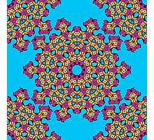 Psychedelic jungle kaleidoscope ornament 4 Photographic Print