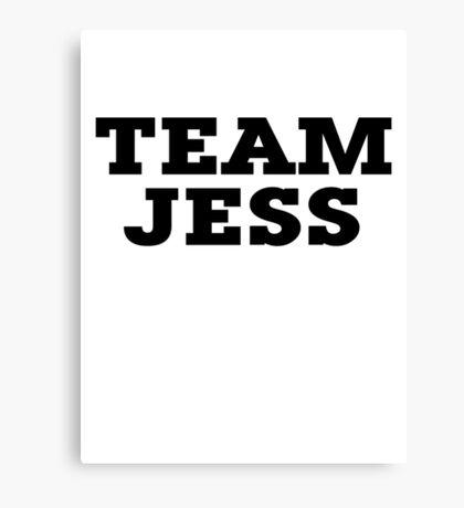 Team Jess Canvas Print