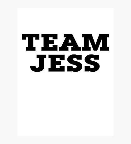 Team Jess Photographic Print