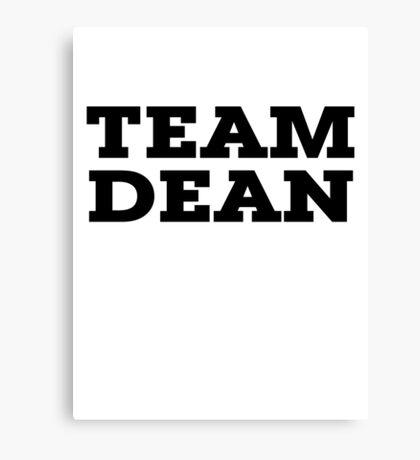 Team Dean Canvas Print
