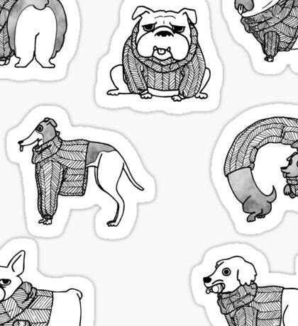 sweater dogs Sticker