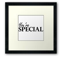 You're Special - Skills,Traits, Attributes Framed Print