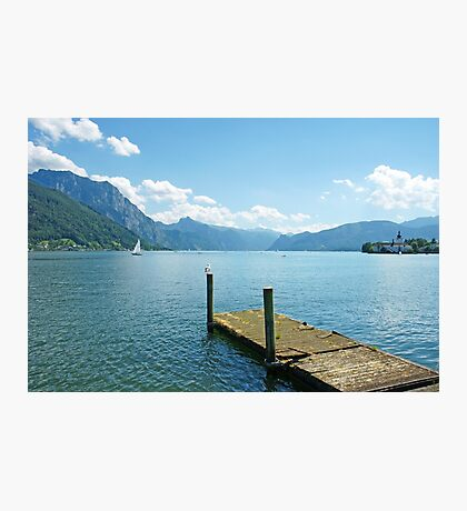 Peaceful lake in the Alps Photographic Print