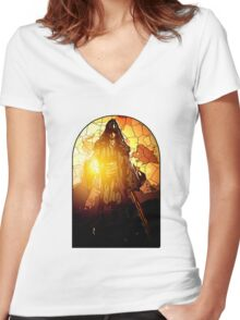 Azrael as the Hermit Women's Fitted V-Neck T-Shirt