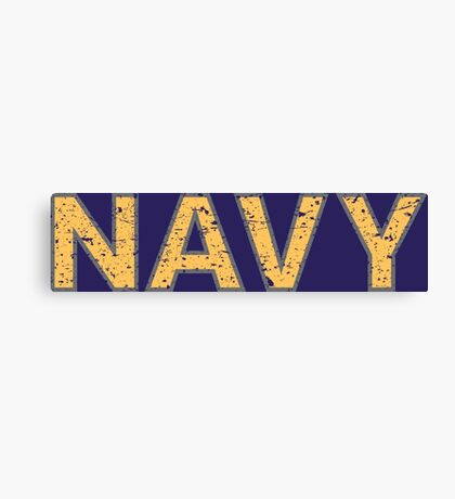 Distressed NAVY  Canvas Print