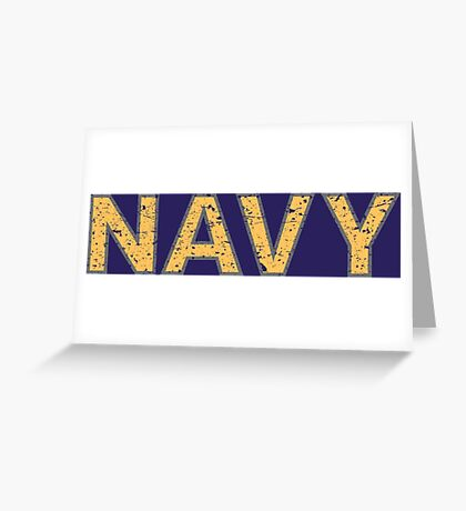 Distressed NAVY  Greeting Card
