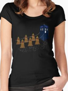 A Dalek Christmas Women's Fitted Scoop T-Shirt