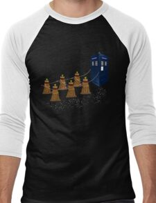 A Dalek Christmas Men's Baseball ¾ T-Shirt