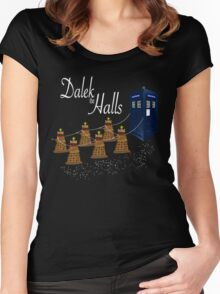 A Dalek Christmas - Dalek the Halls Women's Fitted Scoop T-Shirt