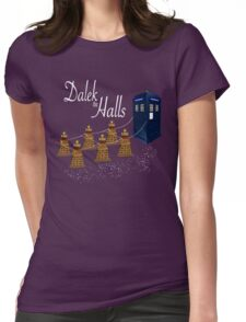 A Dalek Christmas - Dalek the Halls Womens Fitted T-Shirt
