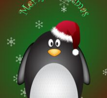 Merry Christmas Penguin Sticker