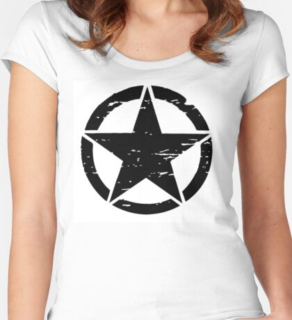 Detressed Star Women's Fitted Scoop T-Shirt
