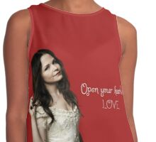 open your heart Contrast Tank