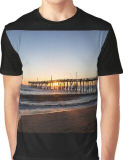 Virginia Beach Fishing Pier Morning Graphic T-Shirt