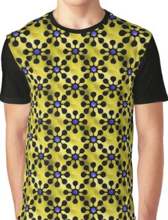 Shine Blossoms Yellow Graphic T-Shirt