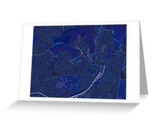 Sydney Inner West Map in Blue Greeting Card