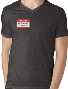 A man is considering to buy... Mens V-Neck T-Shirt