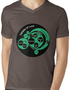 A Phylogeny of Robots: Green-Black Mens V-Neck T-Shirt