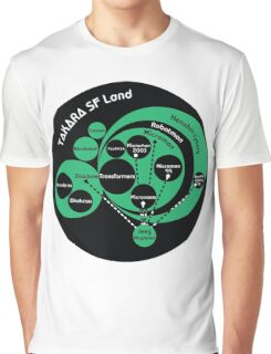 A Phylogeny of Robots: Green-Black Graphic T-Shirt