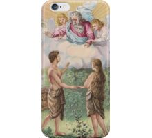 iphone case very old print 1846 holy adam eva god iPhone Case/Skin