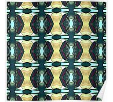Textured Green Abstract Pattern Poster