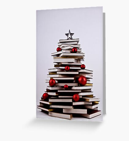 """XMAS BOOK TREE ~ OMG Sold  """"198 """" of these YAY !!! Greeting Card"""
