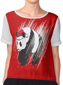 A Panda Christmas  Chiffon Top