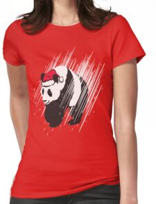 A Panda Christmas  Womens Fitted T-Shirt