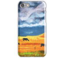Ekalaka cows grazing before store iPhone Case/Skin