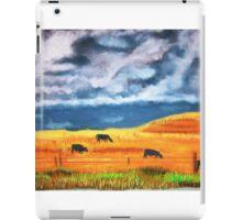 Ekalaka cows grazing before store iPad Case/Skin