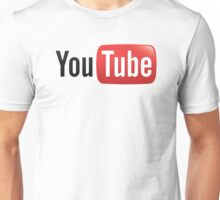 you tube black red logo Unisex T-Shirt