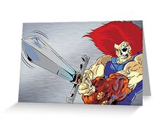 Lion-O's Last Stand Greeting Card
