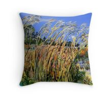 Hidden Life in the Swamp by Gidja Walker (Australasian Bittern) Set 3 of 3 Throw Pillow