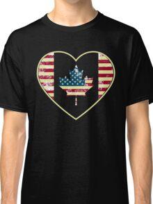 Canadian American Flag Classic T-Shirt