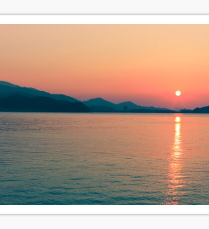 Sunset in Itoshima Sticker