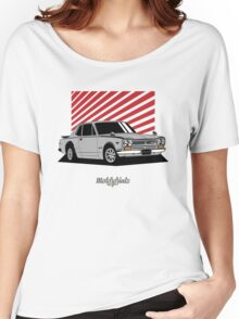 Nissan Skyline 2000 GT-R Coupe (silver) Women's Relaxed Fit T-Shirt