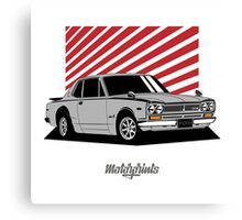Nissan Skyline 2000 GT-R Coupe (silver) Canvas Print