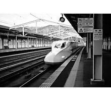 Shinkansen Pulling into the Station Photographic Print