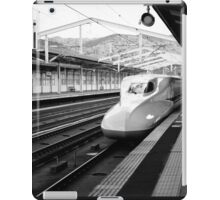 Shinkansen Pulling into the Station iPad Case/Skin