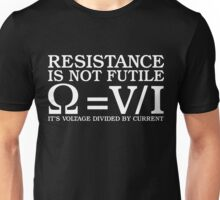 Resistence Is Not Futile Funny Quantum Physics T-Shirt Unisex T-Shirt