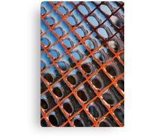 Frozen Patterns in Orange and Blue Canvas Print