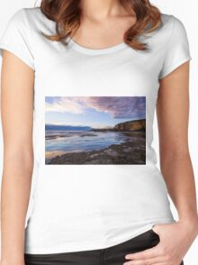 Dragon Head Rock, 16th Beach, Rye, Victoria, Australia Women's Fitted Scoop T-Shirt