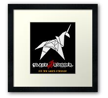 New Blade Runner Origami Unicorn - Retro 80's Classic SCI FI Movie Framed Print