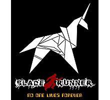 New Blade Runner Origami Unicorn - Retro 80's Classic SCI FI Movie Photographic Print