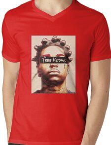 Black Free Koda-k Mens V-Neck T-Shirt