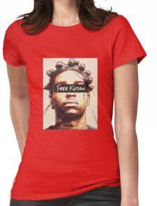 Black Free Koda-k Womens Fitted T-Shirt